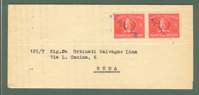 Storia postale repubblica recapito autorizzato piego del for Recapito postale