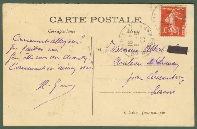 Francia. France. Aviazione. Reims. Grande Semaine d'Aviation de REIMS - 22-29 Aout 1909. Le Dirigeable COLONEL - RENARD.