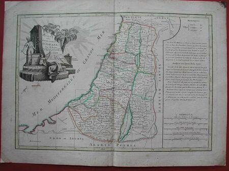 "ISRAELE. '""Carte des douze tribus d''Israel'"""