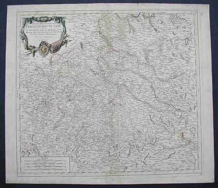 Partie Meridionale du Cercle de Haute Saxe ou sont le duchè de Saxe, le Marquisat de Misnie, le Landgraviat de Thuringe, et autres Etats et Principautès, Par le S.r Robert.