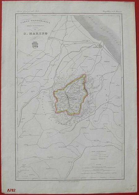 """'""""Carta topografica della Repubblica di S. Marino'""""."""