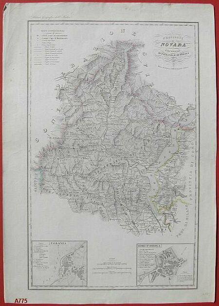 """'""""Provincia di Novara. Circondari di Pallanza e di Ossola'""""."""