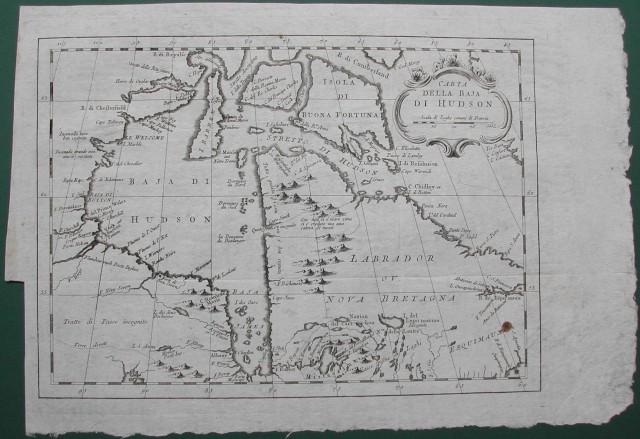 Carta della baia di Hudson