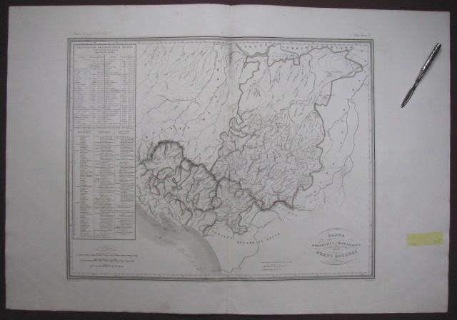 Carta orografica e idrografica degli Stati Estensi