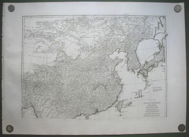 ASIA. Zweiter Theil der Karte von Asien, weilcher China, einen Theilder Tatarei, Indien enseits des Ganges. Die Inseln Sumatra, Iava, Borneo, Moluken, Philippinen, end Iapon enthaoelt. Verfasst von Herrn D'Anville. Nach den neusten Karten Verbesser