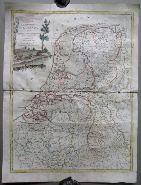 La Repubblica d'Olanda divisa nelle sue provincie. Venezia 1795. Presso Antonio Zatta