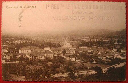 (Cuneo) Panorama di Villanova