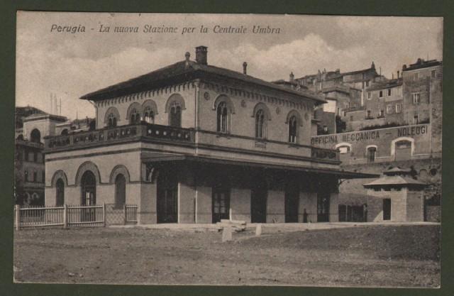 PERUGIA. Veduta esterna della nuova stazione per la Centrale Umbra.
