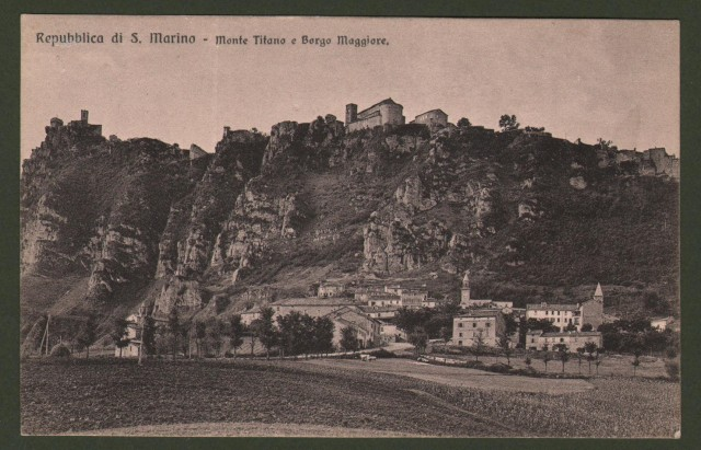 Repubblica di San Marino. Monte Titano e Borgo Maggiore