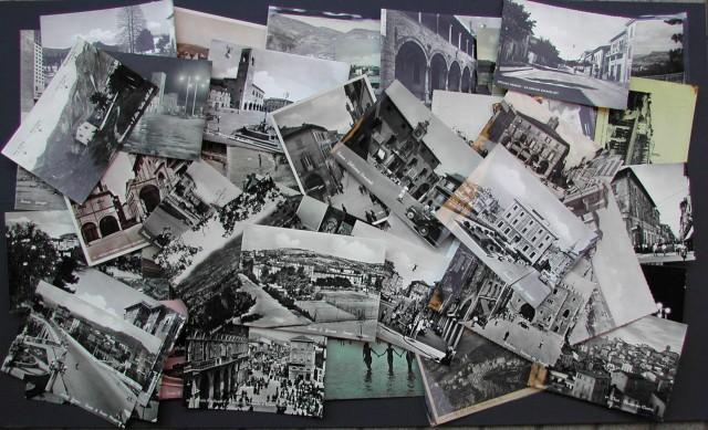 MARCHE. Insieme di 53 cartoline, formato grande, con vedute di località della regione.