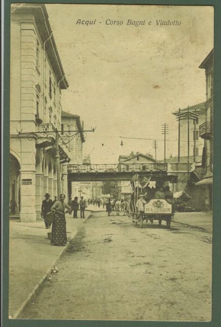 Acqui (Alessandria). Corso Bagni e Viadotto.