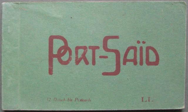 Egitto. Port Said. 12 cartoline contenute in libretto.