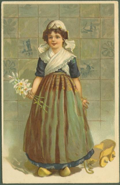 Cartolina d'epoca a rilievo. Bambini. Viaggiata nel 1908.