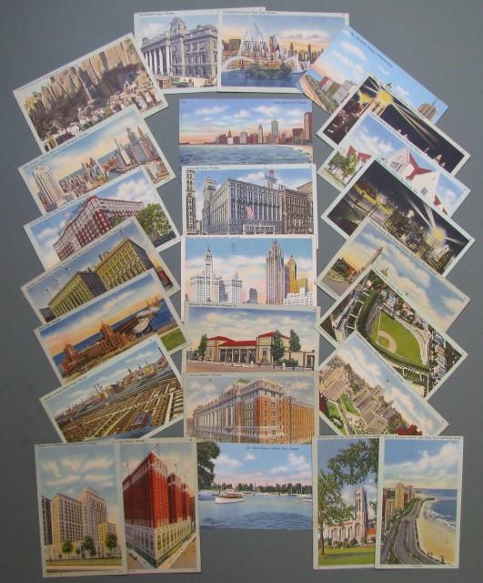 STATI UNITI. CHICAGO. 25 cartoline, anni '40