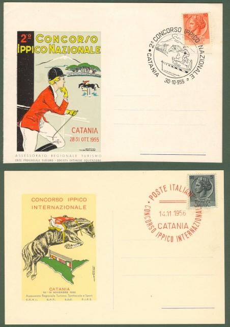 IPPICA. CATANIA. CONCORSO DEL 1955 E 1956.