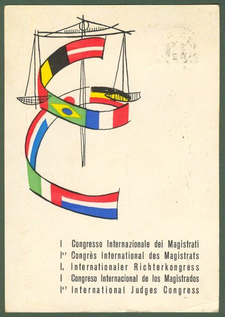 MAGISTRATI. 1'° congresso internazionale. Viaggiata, 1958.