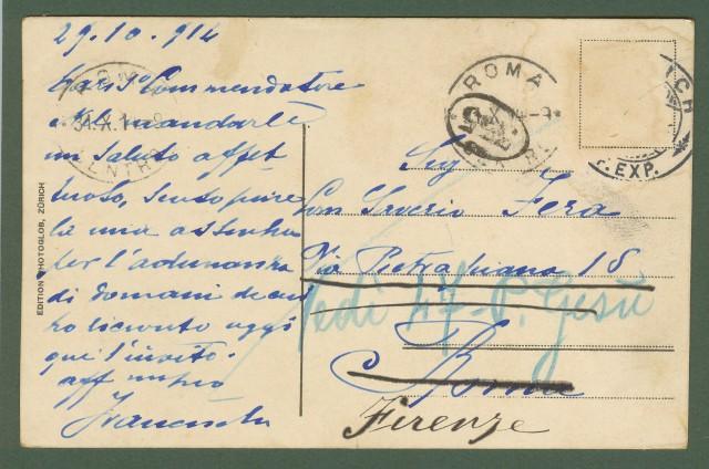 SVIZZERA. PILATUSBAHN, WOLFORTVIADUKT. Cartolina viaggiata 1914.