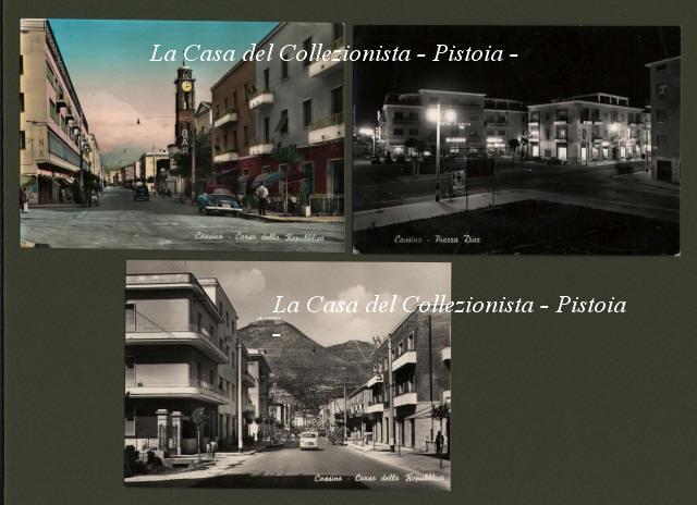 FROSINONE. CASSINO.  Tre cartoline (2 viaggiate 1957-1958)