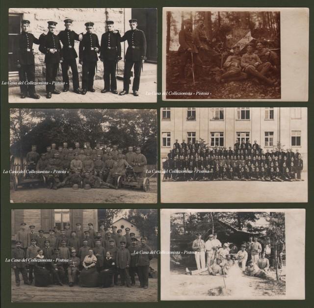 PRIMA GUERRA. Esercito austro-ungarico. Insieme di sei belle cartoline fotografiche.