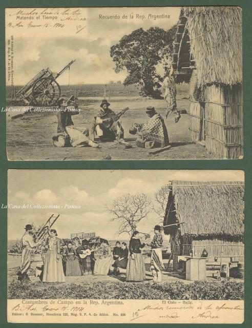 ARGENTINA. 2 belle cartoline viaggiate nel 1904.
