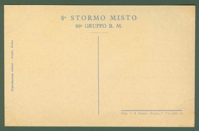 AVIAZIONE. 8'° STORMO MISTO 86'° GRUPPO B.M. Disegno di Vittorio Pisani.
