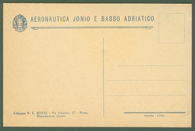 Aviazione. AERONAUTICA JONIO E BASSO ADRIATICO. Disegno di Vittorio Pisani.
