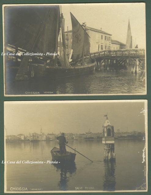 CHIOGGIA (Venezia). Due belle cartoline fotografiche dello Studio Sciutto.