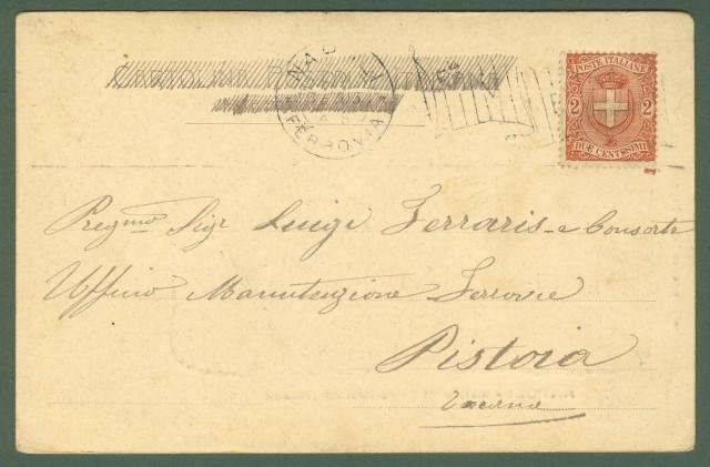 NAPOLI. Salita di Capodichino (costumi). Cartolina viaggiata nel 1903.