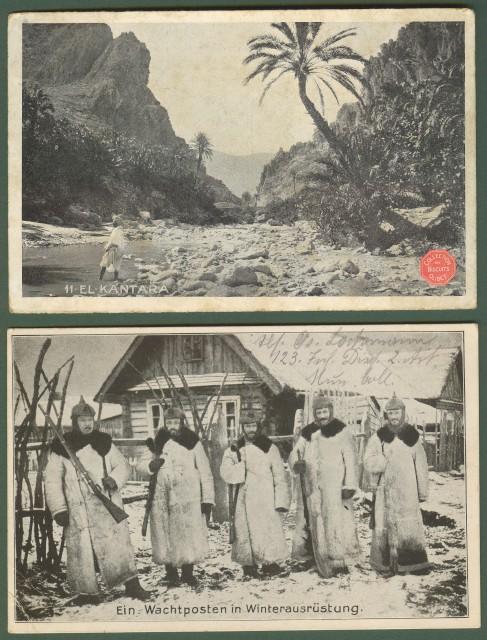 GERMANIA. FELD POST. Due cartoline illustrate del 31 Agosto 1916 e 5 Ottobre 1916.