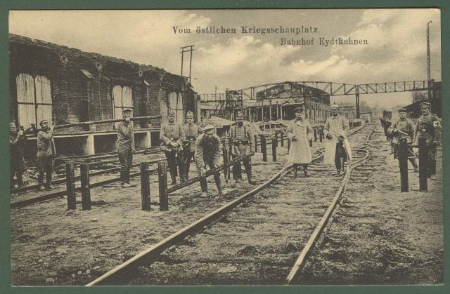 GERMANIA. Kriegsschaupltz, Bahnhof. Viaggiata 1917