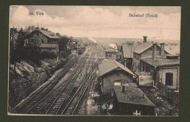 BELGIO. St.Vith, Bahnhof. Viaggiata 1918.