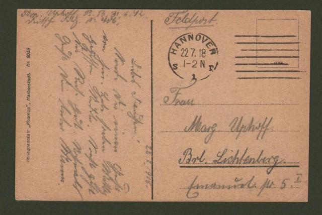 GERMANIA. Sassonia, Lehrte, Bahnhof. Viaggiata 1918.