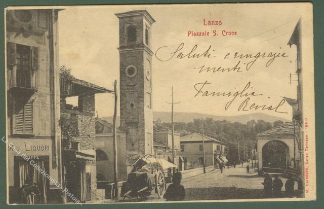 Piemonte. LANZO (Torino). Piazzale S. Croce.