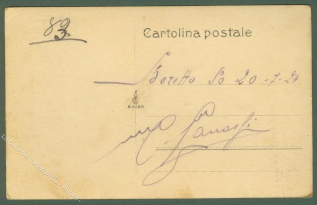 Emilia Romagna. BORETTO (Reggio Emilia). Splendida cartolina fotografica con animata scena sulla riva del Po.