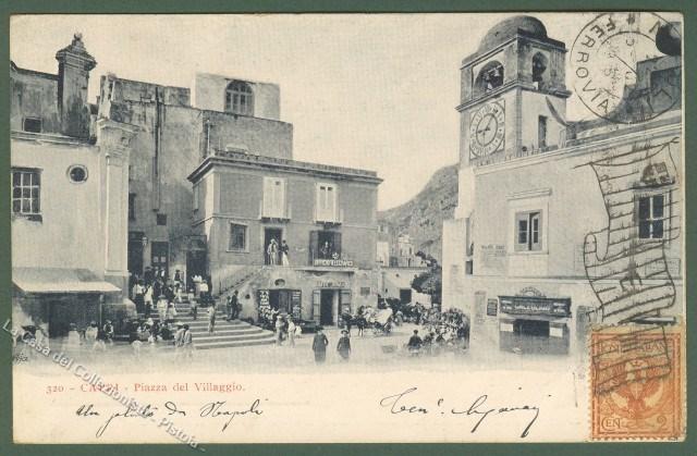 CAPRI, Napoli. Piazza del Villaggio.
