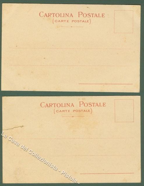PRIMA ESPOSIZIONE INTERNAZIONALE DI CARTOLINE ILLUSTRATE. VENEZIA 1899. Due diverse cartoline. Non viaggiate