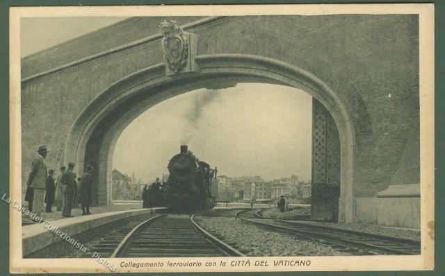 LAZIO. CITTA' DEL VATICANO.  Collegamento ferroviario. Viaggiata nel 1933