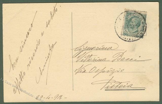 ABRUZZO. LANCIANO (Chieti). Cartolina d'epoca, viaggiata nel 1912