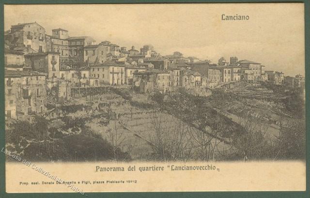 ABRUZZO. LANCIANO (Chieti). Panorama quartiere Lancianovecchio. Cartolina d'epoca, non viaggiata, circa 1910