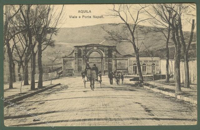 Abruzzo aquila viale e porta napoli cartolina d 39 epoca - Porta cartoline ...