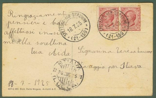 (Calabria - Cosenza) Paola. Porta di entrata in città. Bella cartolina d'epoca animata da gruppo di persone. Viaggiata nel 1925.