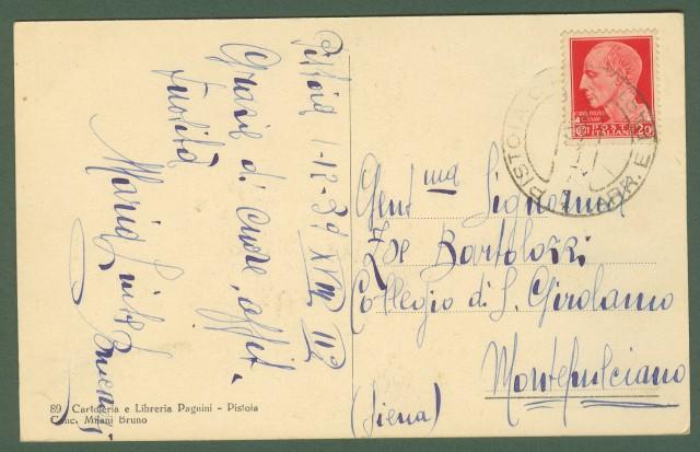 (Toscana) PISTOIA. Villone Puccini. Viale Letizia Ciampi. Cartolina d'epoca viaggiata nel 1939.
