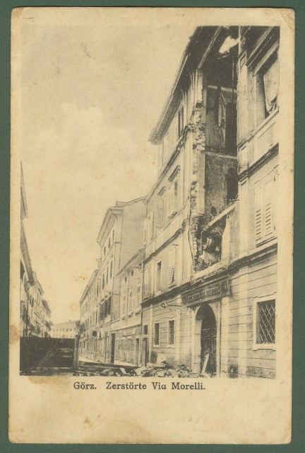 GORIZIA. Via Morelli. Cartolina d'epoca viaggiata nel 1916
