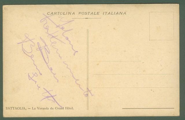 BATTAGLIA, Padova. La Veranda del Grand Hotel, circa 1910