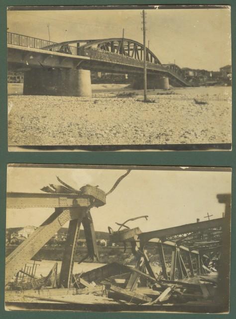 PRIMA GUERRA. Gorizia. Il ponte sull'Isonzo distrutto