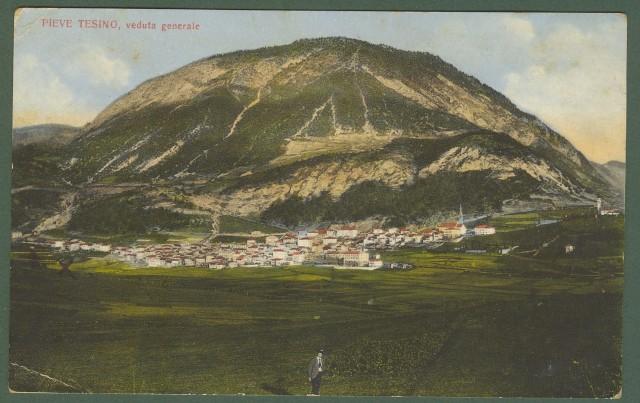 PIEVE TESINO (Trento). Cartolina d'epoca non viaggiata, circa 1915.