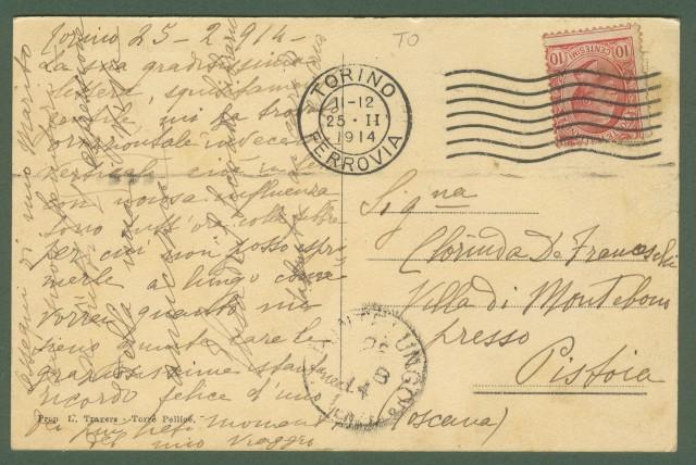 PAROSTINO, S. BARTOLOMEO. Torino. Cartolina d'epoca viaggiata nel 1914.