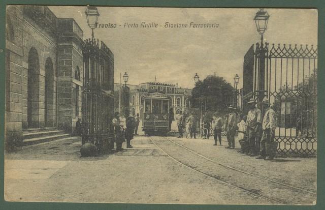 TREVISO. Porta Antille. Cartolina d'epoca viaggiata nel 1919.