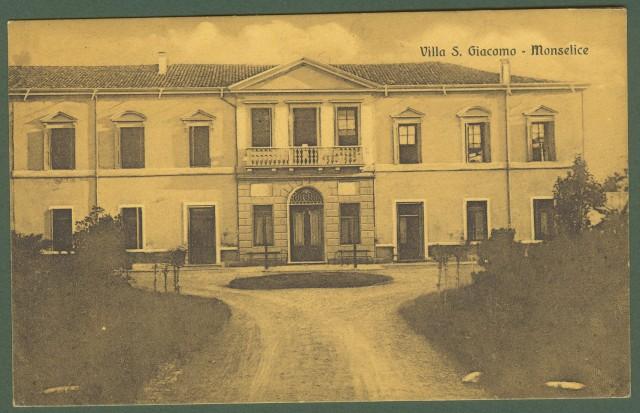 MONSELICE, Padova. Villa San Giacomo. Cartolina d'epoca viaggiata nel 1913