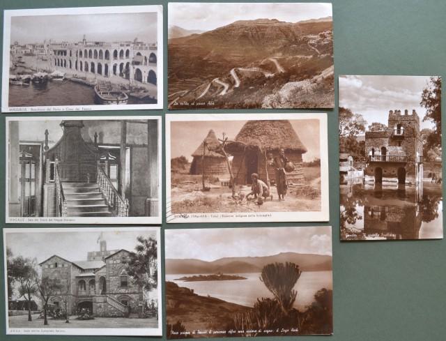 AFRICA ORIENTALE ITALIANA. 7 cartoline anni '30.